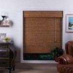 natural bamboo roman shade
