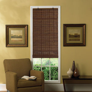 venezia flatstick bamboo roll up blind in cocoa