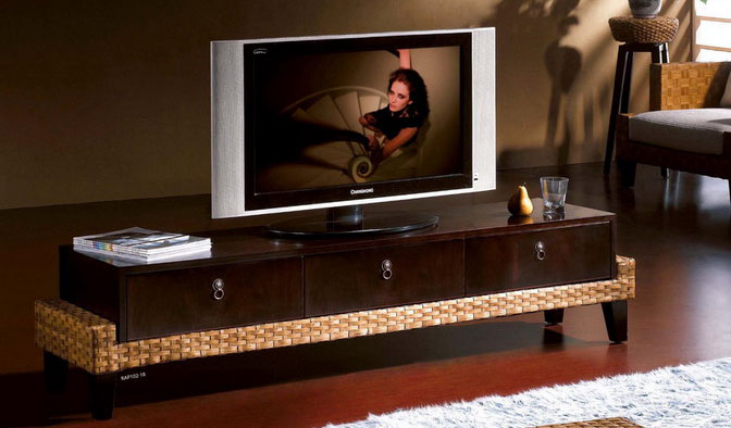 Unique and Classy Rattan TV Stand Designs