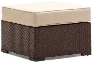 Strathwood Griffen All-Weather Wicker Ottoman