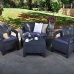 Charcoal Patio Conversation Set