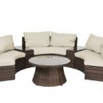 Reef Rattan 16670954 6 Piece Curved Bench Sofa Set